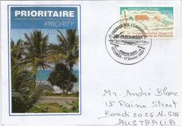 First Commercial Flight AIRCALIN. A320-200 . Noumea-Sydney. 17 Janvier 2003, Lettre Adressée En Australie - Briefe U. Dokumente