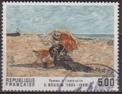 Eugène Boudin: Femme à L'ombrelle - FRANCE - Art, Peinture - N° 2474 - 1987 - Frankreich