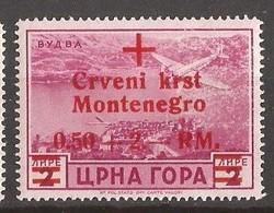 1944   35  ROT KREUZ   DEUTSCHE BESETZUNG  MONTENEGRO CRNA GORA  MNH - Occupation 1938-45