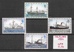 Bateau - Falkland N°254, 256, 258, 259 1977 ** - Barche