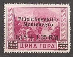 1944   23  FLUECHTLINGSHILFE    DEUTSCHE BESETZUNG  MONTENEGRO CRNA GORA  FALZ HINGED - Occupation 1938-45