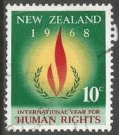 New Zealand. 1968 Human Rights Year. 10c Used. SG 891 - Used Stamps