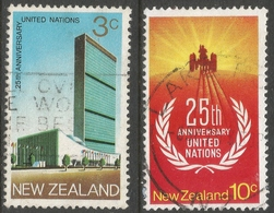 New Zealand. 1970 25th Anniv Of United Nations. Used Complete Set. SG 938-939 - New Zealand