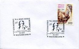 46840 Italia, Special Postmark 2019 Pelermo, Showing  Wolfgang Amadeus Mozart - Musique