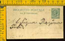 Regno Biglietto Intero Postale - 1878-00 Umberto I