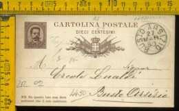 Regno Cartolina Intero Postale Busto Arsizio Ercole Lualdi Molini Capriolo - Marcophilie
