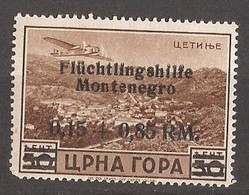 1944   26  FLUECHTLINGSHILFE    DEUTSCHE BESETZUNG  MONTENEGRO CRNA GORA  FALZ HINGED - Occupation 1938-45