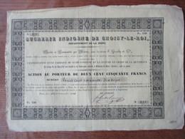 SUCRERIE INDIGENE DE CHOISY-LE-ROI ACTION AU PORTEUR DE DEUX CENT CINQUANTE FRANCS LE 28 NOVEMBRE 1836 - Unclassified
