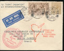 GREAT BRITAIN ZEPPELIN FROM LONDON 30.04.1932 TO RIO DE JANEIRO - Postmark Collection