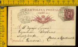 Regno Cartolina Intero Postale Livorno Cairo Montenotte - Storia Postale