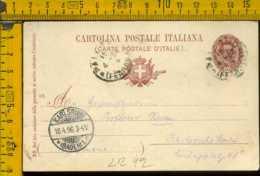 Regno Cartolina Intero Postale Palermo Per L' Estero Germania - 1878-00 Umberto I