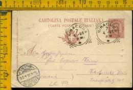 Regno Cartolina Intero Postale Siracusa Per L' Estero Germania - 1878-00 Umberto I
