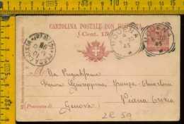 Regno Cartolina Intero Postale Modena Piana Crixia Savona - 1878-00 Umberto I