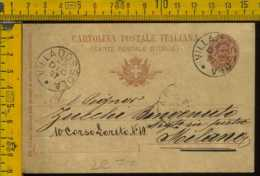 Regno Cartolina Intero Postale Villadossola Milano - Poststempel