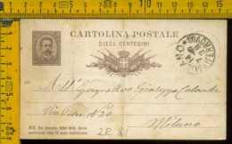 Regno Cartolina Intero Postale Milano Per Città - Storia Postale