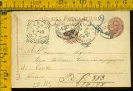 Regno Cartolina Intero Postale Fermo Ascoli Piceno - Storia Postale
