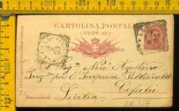 Regno Cartolina Intero Postale Lecco Cefalù - Storia Postale
