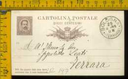 Regno Cartolina Intero Postale Bologna Ferrara - Storia Postale