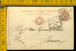 Regno Cartolina Intero Postale Trani Bari Ferrara - 1878-00 Umberto I