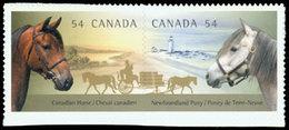 CANADA TP/Carn.Chevaux Du Canada 2v Neuf ** MNH - Neufs