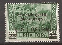 1944   22  FLUECHTLINGSHILFE    DEUTSCHE BESETZUNG  MONTENEGRO CRNA GORA   MNH  POSTFRISCH - Occupation 1938-45