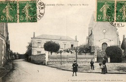 LUCEAU ( 72 ) - L' église Et La Mairie - Francia