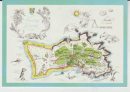 Postcard - Map - Herm Island Small Channel Islands, Card No..h25 - Unused  Very Good - Ansichtskarten