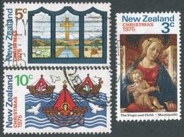 New Zealand. 1975 Christmas. Used Complete Set. SG 1083-1085 - New Zealand