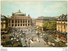 Photo Cpsm Cpm 75 PARIS 09. Place Et Théâtre De L'Opéra 1973 Bouche Du Métropolitain - Arrondissement: 09