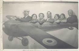 Cpa Aviation – Carte-photo Avion, Montage Fête Foraine, Nungesser & Coli  ( AV ) - Airships