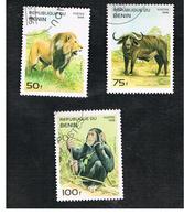 BENIN  - SG 1315.1317  - 1995 ANIMALS   - USED ° - Benin – Dahomey (1960-...)