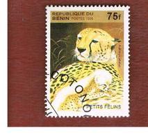BENIN  - SG 1335  - 1995 ANIMALS: BIG CATS (CHEETAHS)   - USED ° - Benin – Dahomey (1960-...)