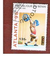 BENIN  - SG 1351  - 1996  OLYMPIC GAMES: WEIGHTLIFTING  - USED ° - Benin – Dahomey (1960-...)