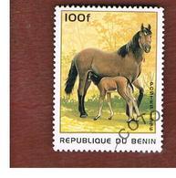 BENIN  - SG 1416  - 1996  HORSES   - USED ° - Benin – Dahomey (1960-...)
