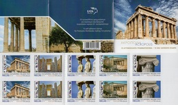 Greece - 2019 - Acropolis II - Mint Self-adhesive Booklet With Hologram - Booklets