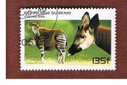 BENIN  - SG 1443  - 1996  ANIMALS: OKAPI   - USED ° - Bénin – Dahomey (1960-...)