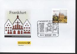 ALLEMAGNE  Lettre  2014 Frankfurt  Bus - Bussen
