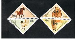 BENIN  - SG 1624.1627  - 1997  HORSES (4 DIFFERENT: 2 + 2 SE-TENANT)  - USED ° - Benin – Dahomey (1960-...)