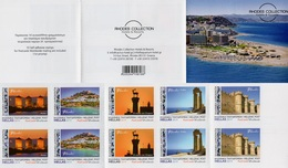 Greece - 2019 - Rhodos - Rhodos Collection - Mint Self-adhesive Booklet With Hologram - Booklets