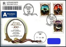 Latvia Lettland Lettonie 2011 (14) 100th Anniversary Of Republic Of Latvia   Latvia And Sea  Ships (addressed FDC) - Lettland