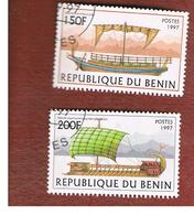 BENIN  - SG 1667.1668  - 1997  ANCIENT SAILING SHIPS   - USED ° - Benin – Dahomey (1960-...)