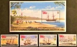 #Tuvalu 1999** Mi.823-26, Bl.67. Ships, MNH [21;74] - Barcos
