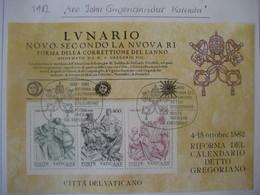 Vatikan- Gregorianischer Kalender Block 4 Mi. 811-813 - Vatican