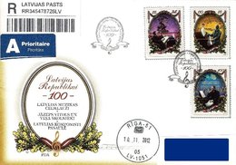 Latvia Lettland Lettonie 2012 (15) 100th Anniversary Of Republic Of Latvia  Latvian Composers  Music (addressed FDC) - Lettland