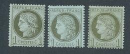 CZ-191: FRANCE:lot Avec  N°50* (3) - 1871-1875 Cérès