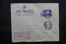 ITALIE - Enveloppe De Rome Par 1er Vol Beyrouth / Rome/ Paris En 1953, Affranchissement Plaisant. - L 37490 - 6. 1946-.. Repubblica