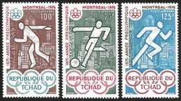 V) 1975 CHAD, PRE-OLYMPIC YEAR, MONTREAL 76, MNH - Chad (1960-...)