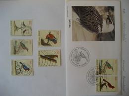 Vatikan-  FDC Beleg Vogeldarstellungen Aus Mi. 976-983 Und Marken Mit Falz - Vatican