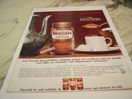ANCIENNE PUBLICITE PLAISIR D UN BON CAFE  NESCAFE  1967 - Affiches