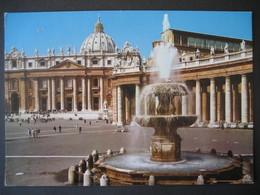 Vatikan-  Karte Basilika Di San Pietro- Der Brunnen Von Bernini - Vaticano